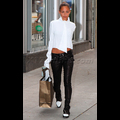 Nicole Richie Shops For New Threads In A Sexy Pair Of Leather Skinnies