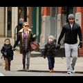 Liev Schreiber And Naomi Watts Walk With Their Boys In The Big Apple