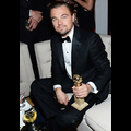 Leonardo DiCaprio Celebrates His Golden Globes Win At Star-Studded After Party