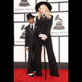 Madonna And Her Son David Suit Up At The 2014 Grammy Awards