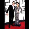 Robin Thicke And Paula Patton Wow In Black And White At The 2014 Grammys