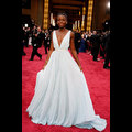 Lupita Nyong'o Is Pretty In Pastel Blue Prada At The 2014 Academy Awards