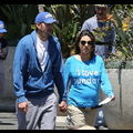 "<em><span class=""exclusive"">EXCLUSIVE PHOTOS</span></em> - Ashton Kutcher And Pregnant Mila Kunis Celebrate Mother's Day At A Dodgers Game"