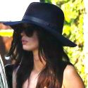 """<em><span class=""""exclusive"""">EXCLUSIVE PHOTOS</span></em> - Megan Fox Protects Her Porcelain Skin From The Sun"""