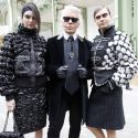 Kendall Jenner And BFF Cara Delevingne Snuggle Up To Karl Lagerfeld At Chanel Show