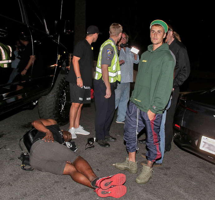 Image result for Justin Bieber Hits Photographer In Car Accident After Church Service (Video)