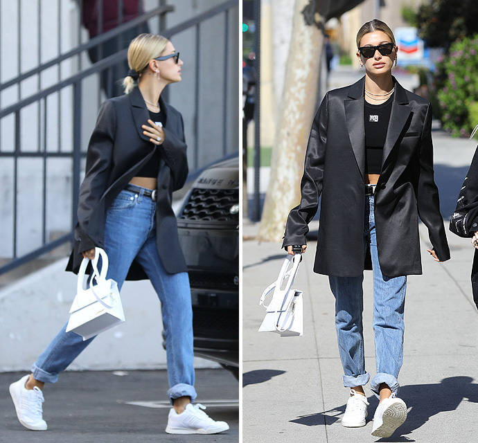 Hailey Baldwin Grabs $40 Pizza With A Pal - X17 Online