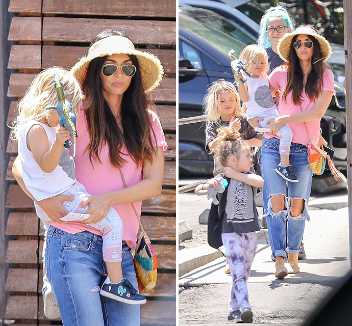"""em><span class=""""exclusive"""">EXCLUSIVE PHOTOS</span></em> - Megan Fox Enjoys Mother's Day With Her Blonde Baby Boys"""