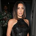 Kim And Kourtney Get Their Sexy On For Pal's Birthday Dinner ... While Kanye Wears Sweats!