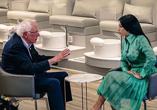 Cardi B Interviewed Bernie Sanders ... - X17 Online
