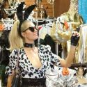 Paris Hilton Preps For Halloween With A Visit To Trashy Lingerie