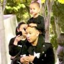 Chrissy Teigen And John Legend Take 3-Year-Old Daughter Luna To The Ariana Grande Concert!
