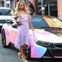 That's HOT! Paris Hilton Poses With Her AWESOME Custom-Wrapped BMW i8