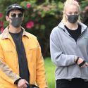 Joe Jonas And Pregnant Sophie Turner Don Matching Masks For Evening Dog Walk