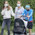 Jennifer Garner Gets Stuck On Dog Doody Duty During Family Walk