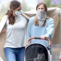 Jennifer Garner Wraps Up In Cashmere During Nightly Stroll With The Cat