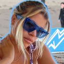 Sofia Richie Sips A Glass of Wine Before A Game Of Beach Tennis