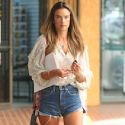Alessandra Ambrosio Does Her Supermodel Strut In A Pair Of Daisy Dukes