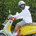 Justin Bieber Celebrates Success Of 'Holy' With A Brand New Vespa