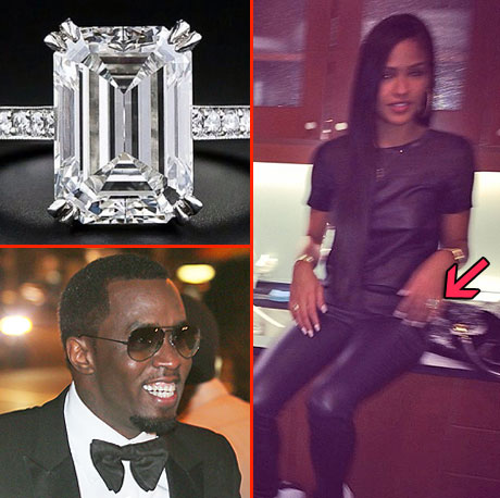 Diddy Engaged Cassie Shows Off Diamond Ring But  E! News