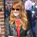 Emma Stone Is Radiant In A Red Dress For Her Appearance On <em>Letterman</em>