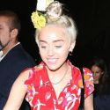 Miley Cyrus Gets Her Party On With Flowers In Her Hair