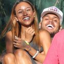 Chris Brown Gets Back Together With Girlfriend Karrueche Tran At His Flag Football Charity Event