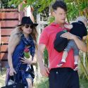 Fergie Goes Glam With $2350 Chanel Diaper Bag During Family Day WIth Josh And Axl