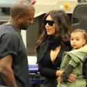 Kim Kardashian And Kanye West Jet Out Of Los Angeles With Adorable Daughter Nori