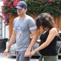 Pregnant Mila Kunis Hangs On Tight To Fiance Ashton Kutcher