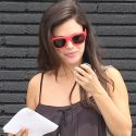 Rachel Bilson Covers Up Her Baby Bump In A Baggy Dress