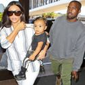 Nori Carries A YSL Purse As She Jets Out Of Town With Kim And Kanye!