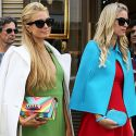 Paris And Nicky Hilton Take Paris Fashion Week By Storm In Coordinating Ensembles