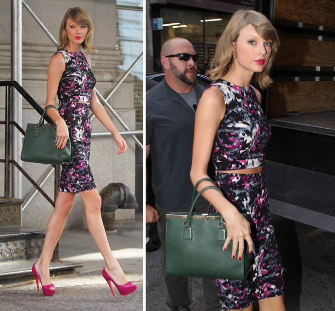 No Black Pantsuit And Sensible Shoes For Her Business Meeting! Taylor Swift  Was All About Showing Off Her Sexy Stems When She Left Her New York  Apartment ...