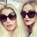 Jessica And Ashlee Simpson Get Cheeky In Atlanta
