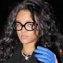 Rihanna Wears Haute Couture Household Cleaning Gloves To Dinner