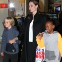 A Jubilant Angelina Jolie Takes Her Army Of Kids Shopping For Art Supplies