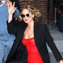 Jennifer Lawrence Is Red Hot At <em>The Late Show With David Letterman</em>
