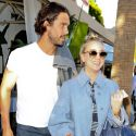 Kaley Cuoco Rocks A Miley Cyrus-Inspired Hairstyle For Lunch With Her Hunky Hubby
