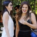 "<em><span class=""exclusive"">X17 EXCLUSIVE</span></em> - Kim And Kylie Snub Kendall At Birthday Lunch"