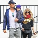 Fergie And Josh Duhamel Grab A Bite With Their Adorable Son Axl
