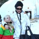 Ski Bunny Gwen Stefani Hits The Slopes With Kingston This Holiday Season