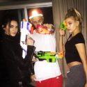 Justin Bieber Gets Into A Nerf Gun War With Kendall Jenner And Hailey Baldwin