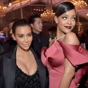 Rihanna Gets Up Close And Personal With Kim Kardashian's Cleavage At Charity Bash