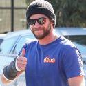 Liam Hemsworth Isn't Letting Broken Bones Ruin His Day!