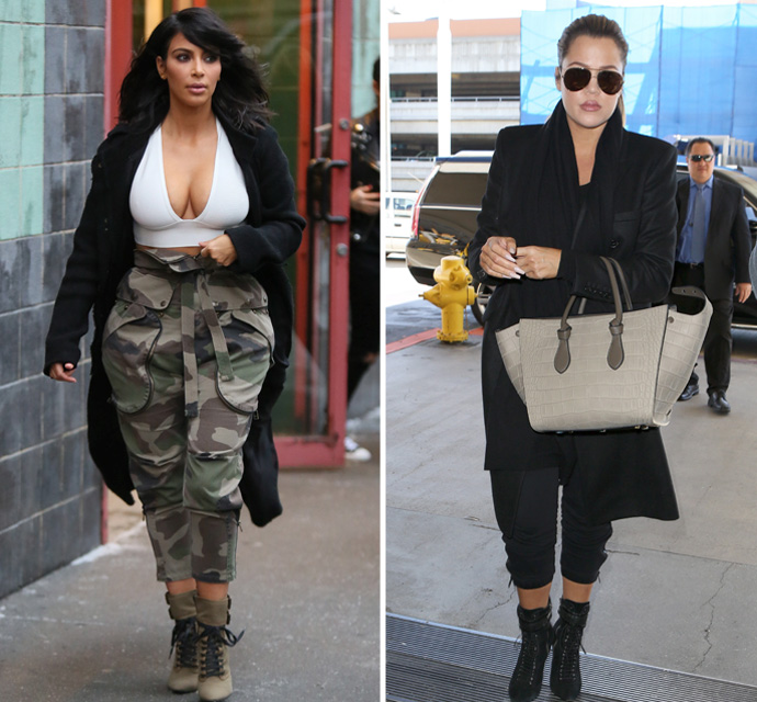 Kim Kardashian Misses The Mark In Cropped Pants, But Khloe Nails The ...