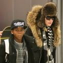 Madonna And Her Hip Son David Bundle Up In The Big Apple