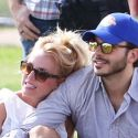 Britney Spears Can't Keep Her Hands Off Her Man