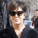 Kris Jenner Is A Fashionable Grandma In A Furry Coat In France