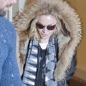 Madonna Channels Pal Kanye With Her Fur-Trimmed Parka